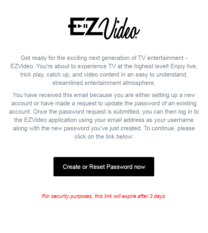 Password Email Example
